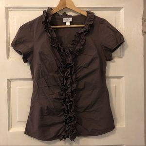 Ann Taylor-Loft size 8 button down blouse -NWOT